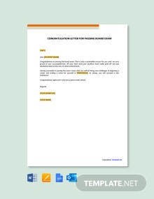 Free Congratulation Letter for Passing Board Exam