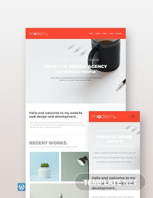 Creative Agency Wordpress Theme Template