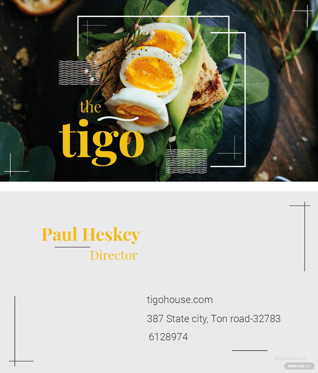 Free Restaurant Business Card Template in Adobe Illustrator ...