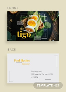 Free fashion store business card template in adobe illustrator free restaurant business card template wajeb Images