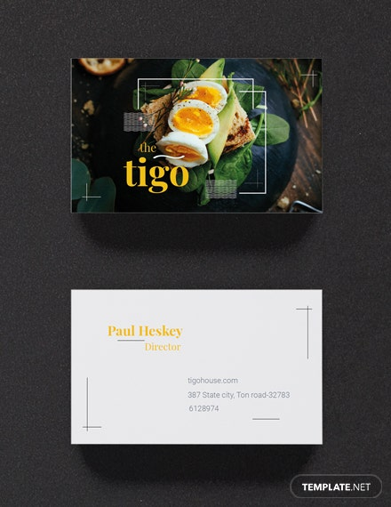 Free restaurant business card template download 19 business cards free restaurant business card template accmission Images