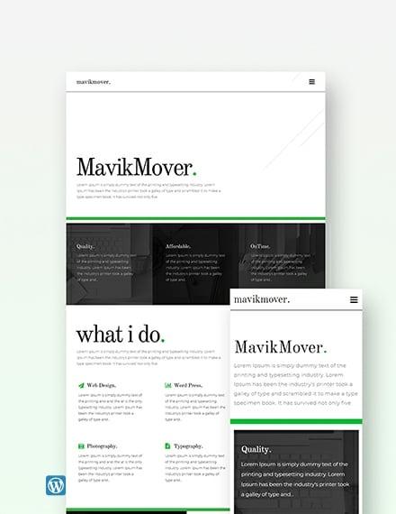 Sample Developer Portfolio Wordpress Theme