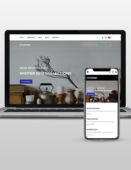Fashion Store WordPress Theme Template
