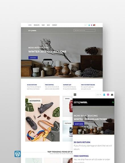 Free Fashion Store WordPress Theme