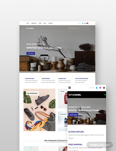 Free Fashion Store WordPress Theme