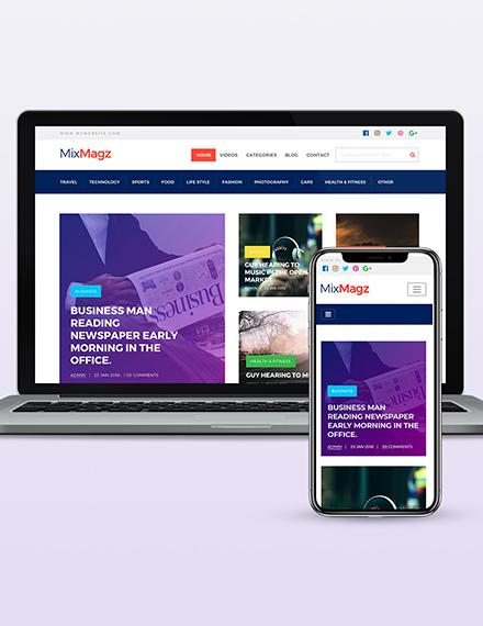 Magazine Style Wordpress Theme Template