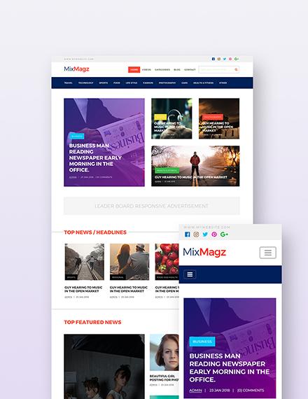 Free Magazine Style Wordpress Theme