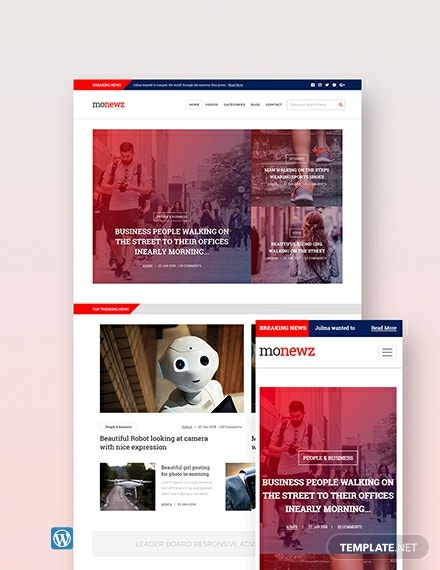 Free News Portal WordPress Theme