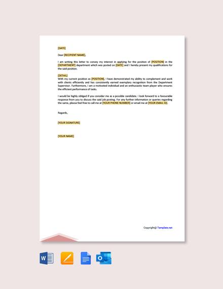 Free Letter Of Interest For Internal Job Posting Template Google Docs Word Template Net