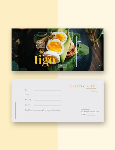 Free Restaurant Gift Certificate