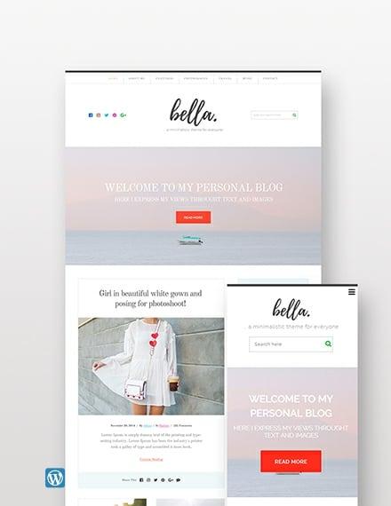 Sample Personal Blog WordPress Theme