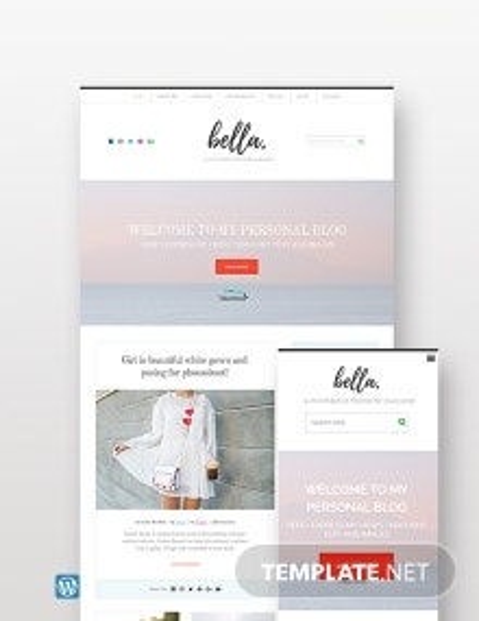 Free Personal Blog WordPress Theme