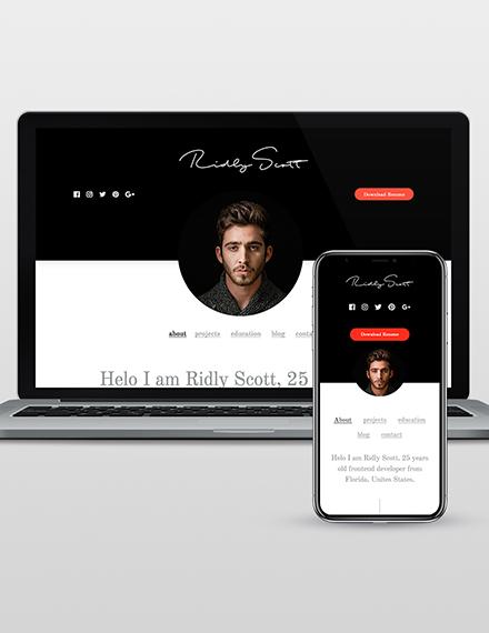 Resume WordPress Theme Template