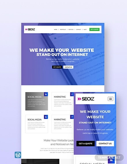 Free SEO Agency WordPress Theme