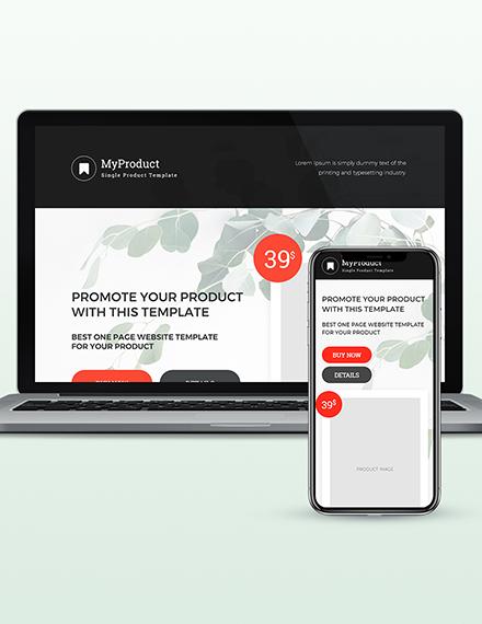 Sample Single Product Wordpress Theme