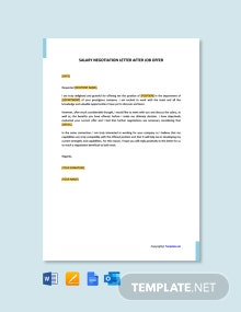 Free Salary Negotiation Letter After Job Offer