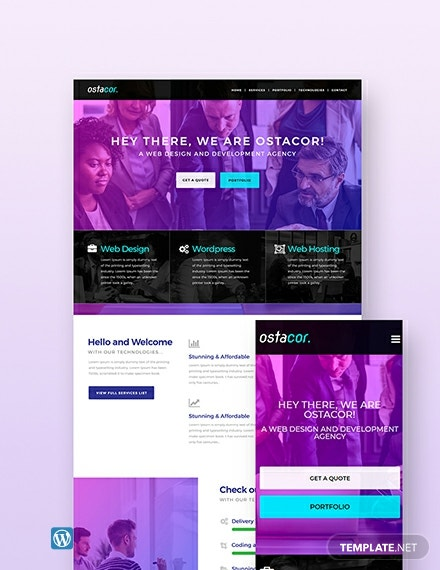 Free Web Design Agency Wordpress Theme
