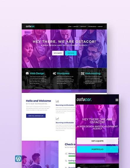 Sample Web Design Agency Wordpress Theme