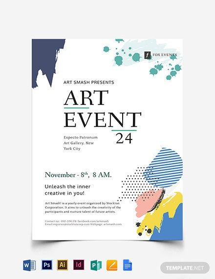 Art Event Flyer Template