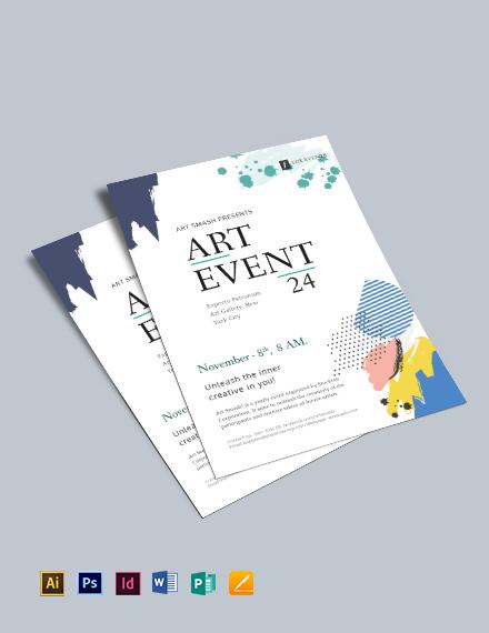 Art Event Flyer Template