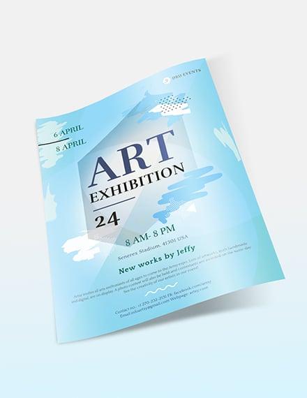 Sample Art Exhibition Flyer