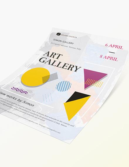 Art Gallery Flyer Sample