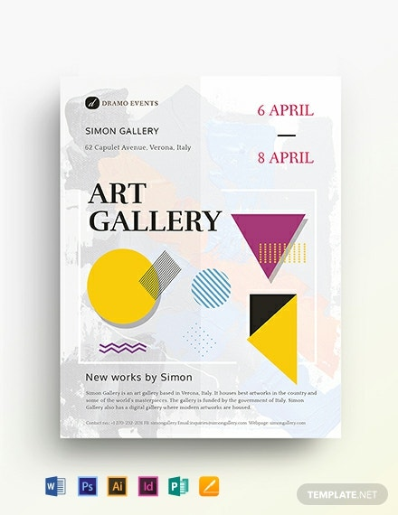 Art Gallery Flyer Template