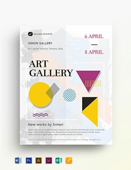 art gallery flyer template