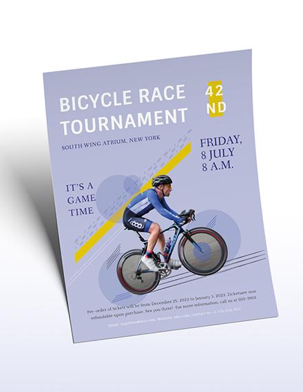 Bicycle Racing Flyer Download