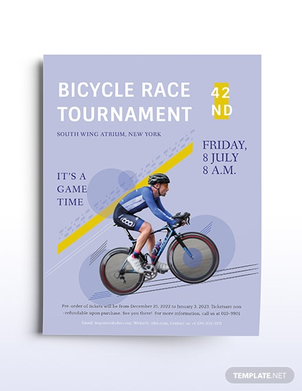 Bicycle Racing Flyer Template
