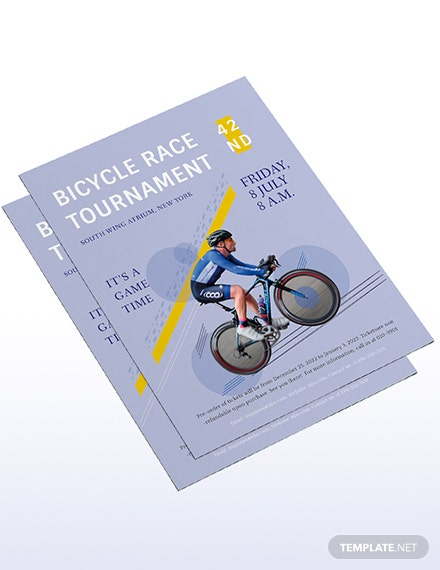 Sample Bicycle Racing Flyer