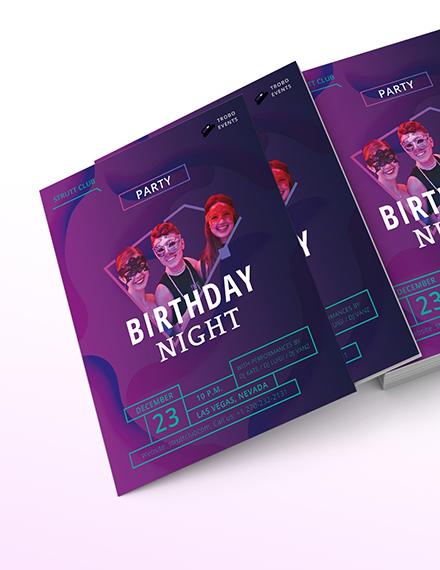 Birthday NightClub Flyer Download