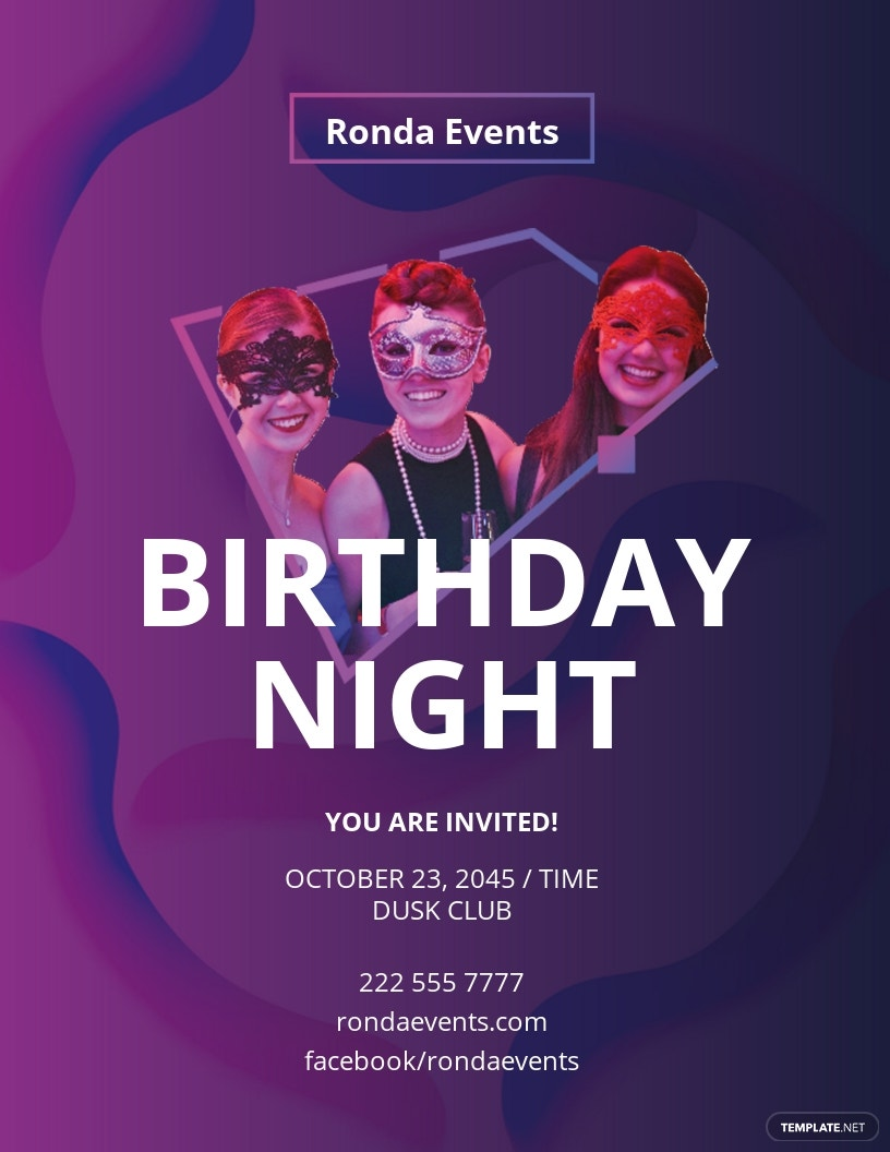Birthday NightClub Flyer Template