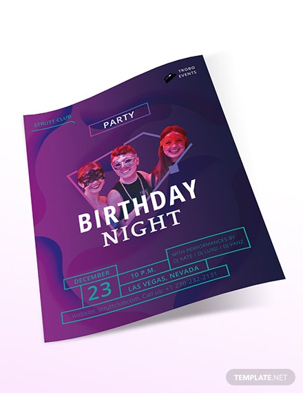 Sample Birthday NightClub Flyer