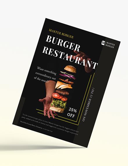 Burger Restaurant Flyer Download