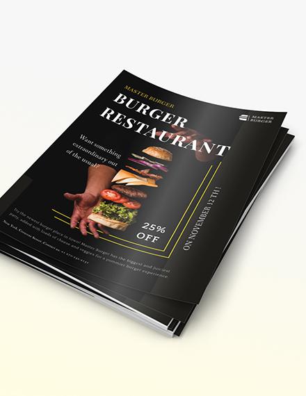 Burger Restaurant Flyer Sample