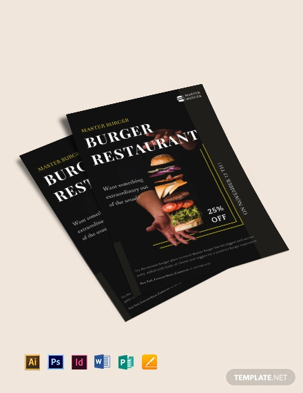 Burger Restaurant Flyer Template