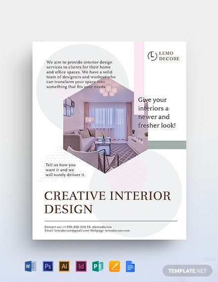 Creative Interior Design Flyer Template