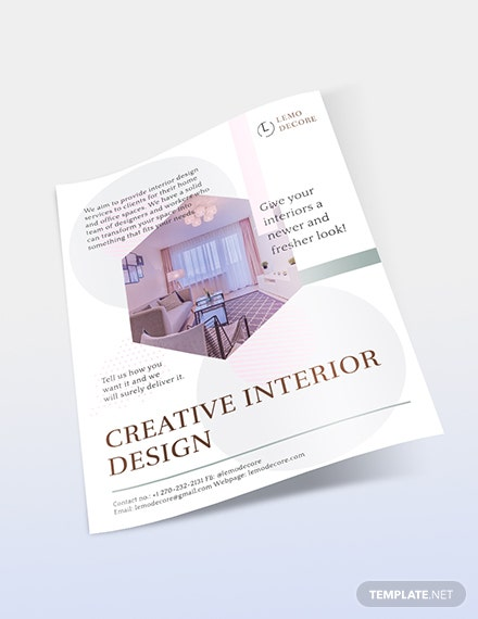 Sample Creative Interior Design Flyer