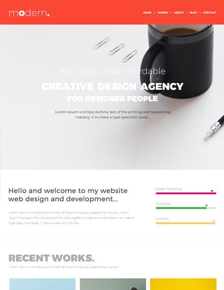 Free Design Portfolio Website Template