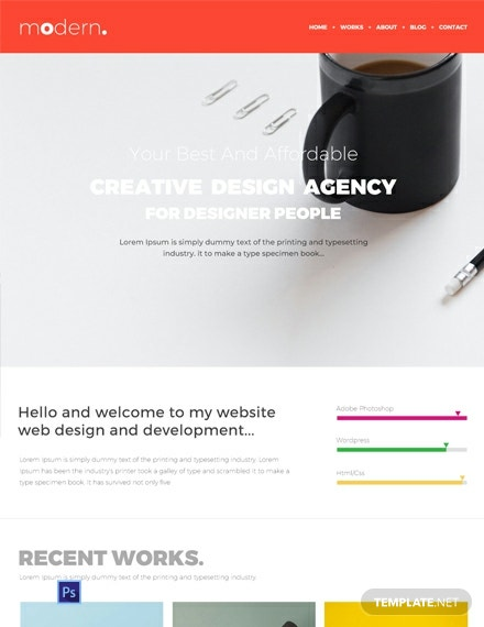 Free Design Portfolio Website Template