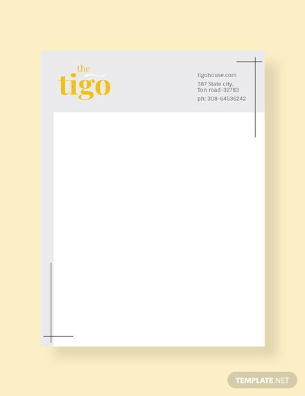restaurant letterhead templates free - 31 free letterhead templates download ready made
