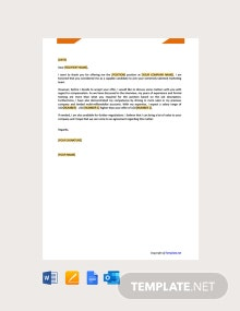 Free Salary Negotiation Letter