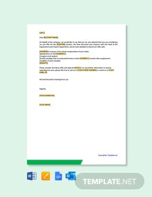 Free Salary Negotiation Letter To Employee