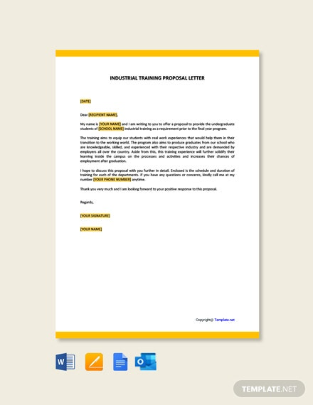 Industrial Training Proposal Letter Template