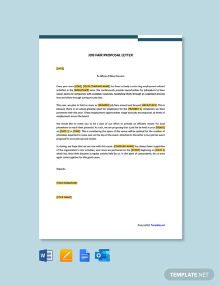 Job Fair Proposal Letter Template