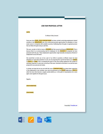 Free Job Fair Proposal Letter