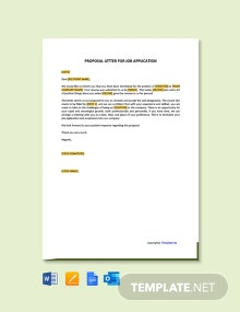 Free Proposal Letter For Job Application
