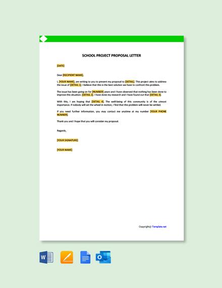 Free School Project Proposal Letter