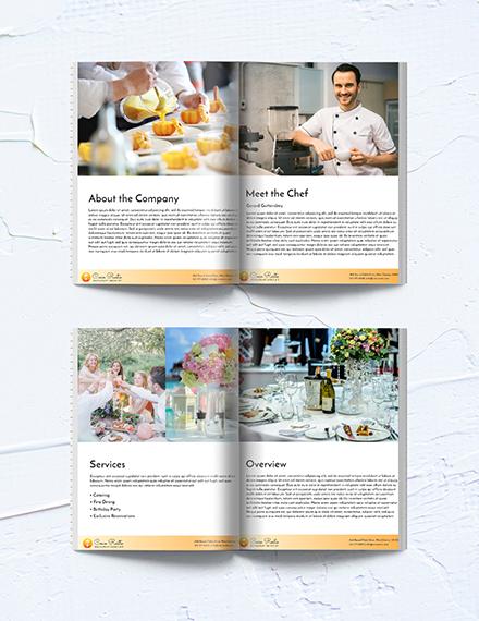 Free Editable Restaurant Business Media Kit Template